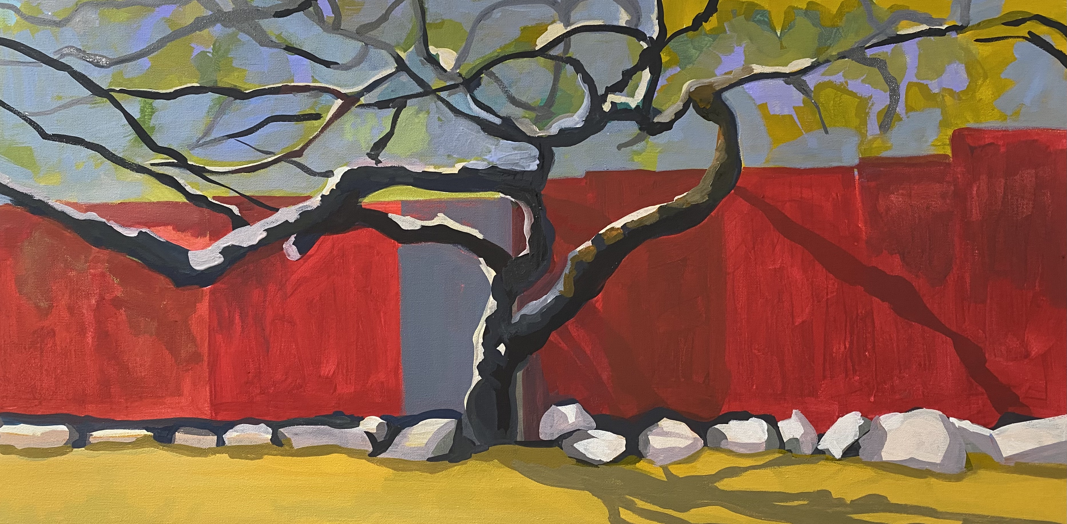 The tree and red wall (sold)