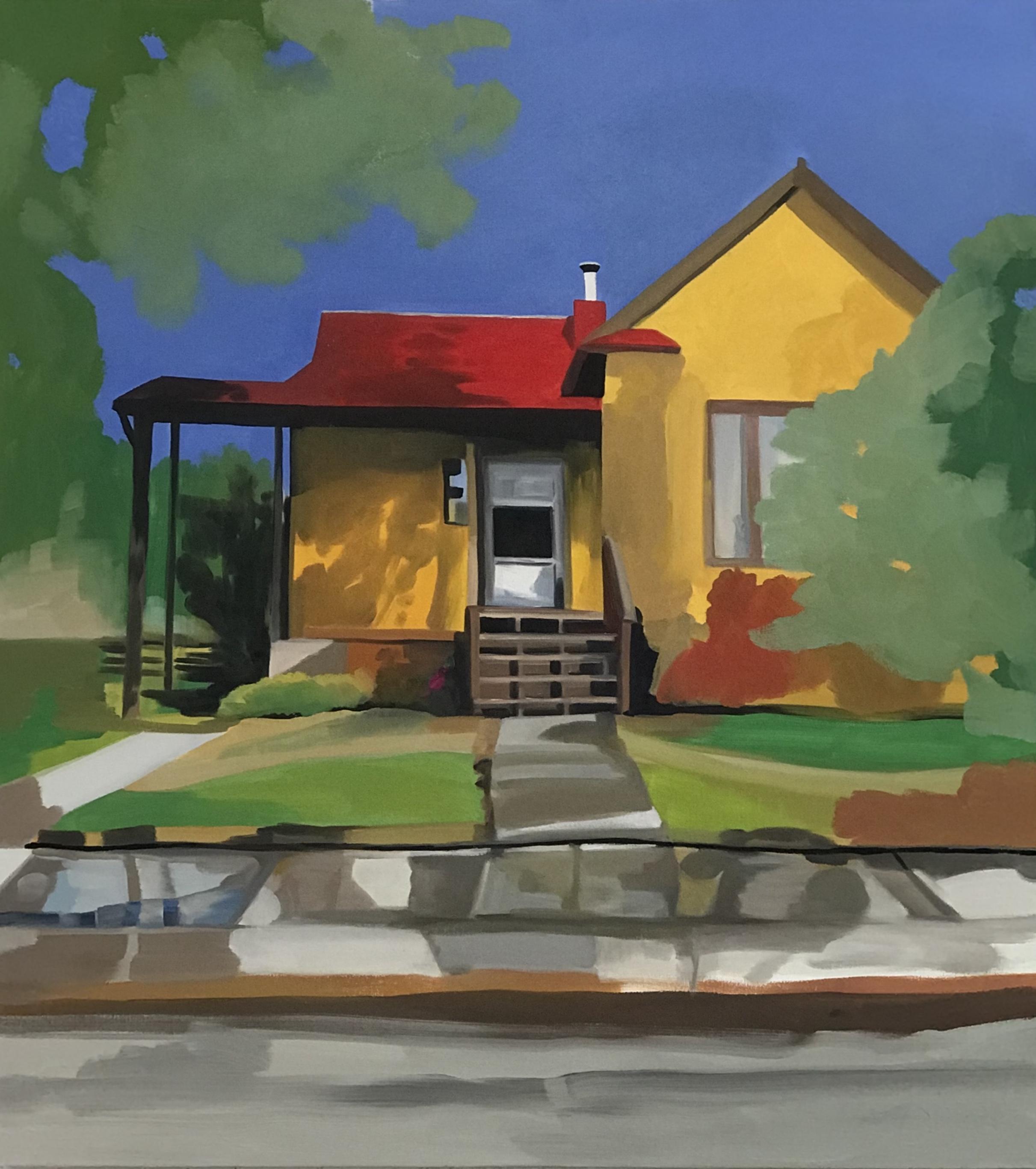 "Rainy Day, Missoula, oil, 40"" x 36"""