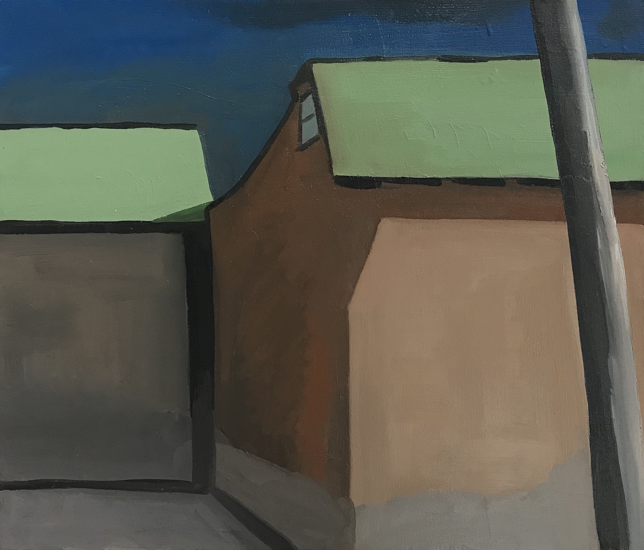 """Taos place, oil and wax on canvas, """"28 x 32"""""""