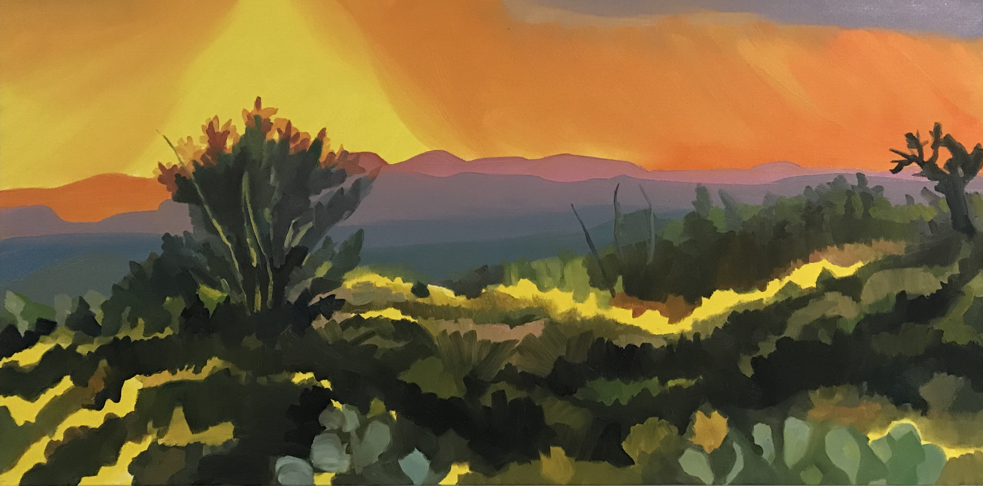 Sunset on the Catalina's (SOLD)