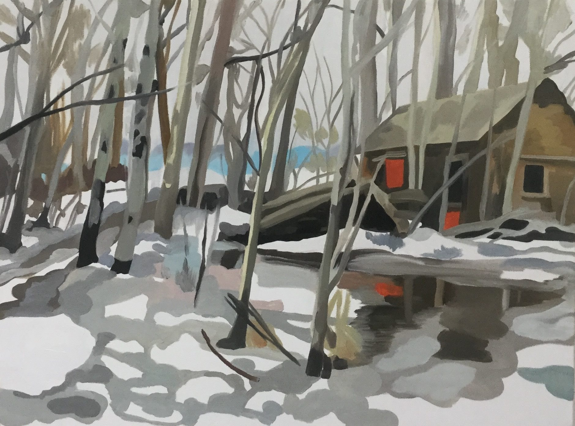 """The Big Thaw, oil on canvas, 28"""" x 32""""; sold"""