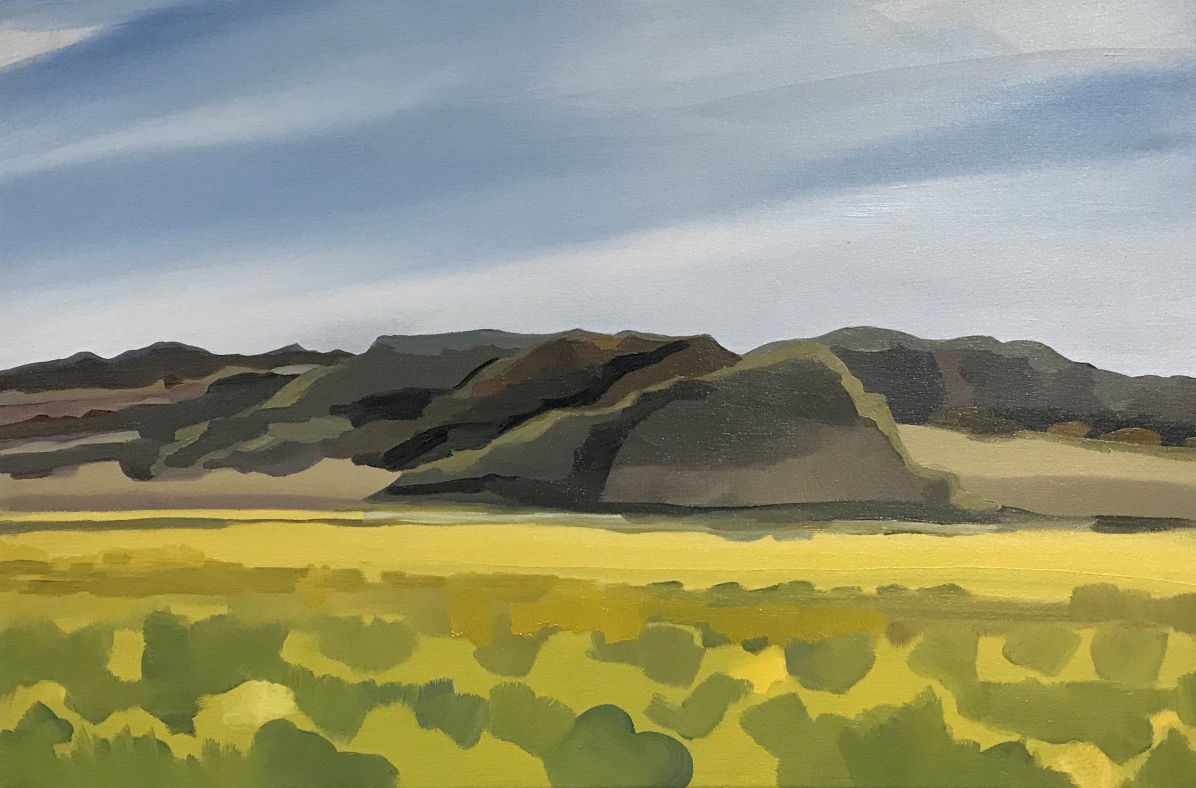 """Place with the chamisa field, , oil, 16"""" x 24"""""""