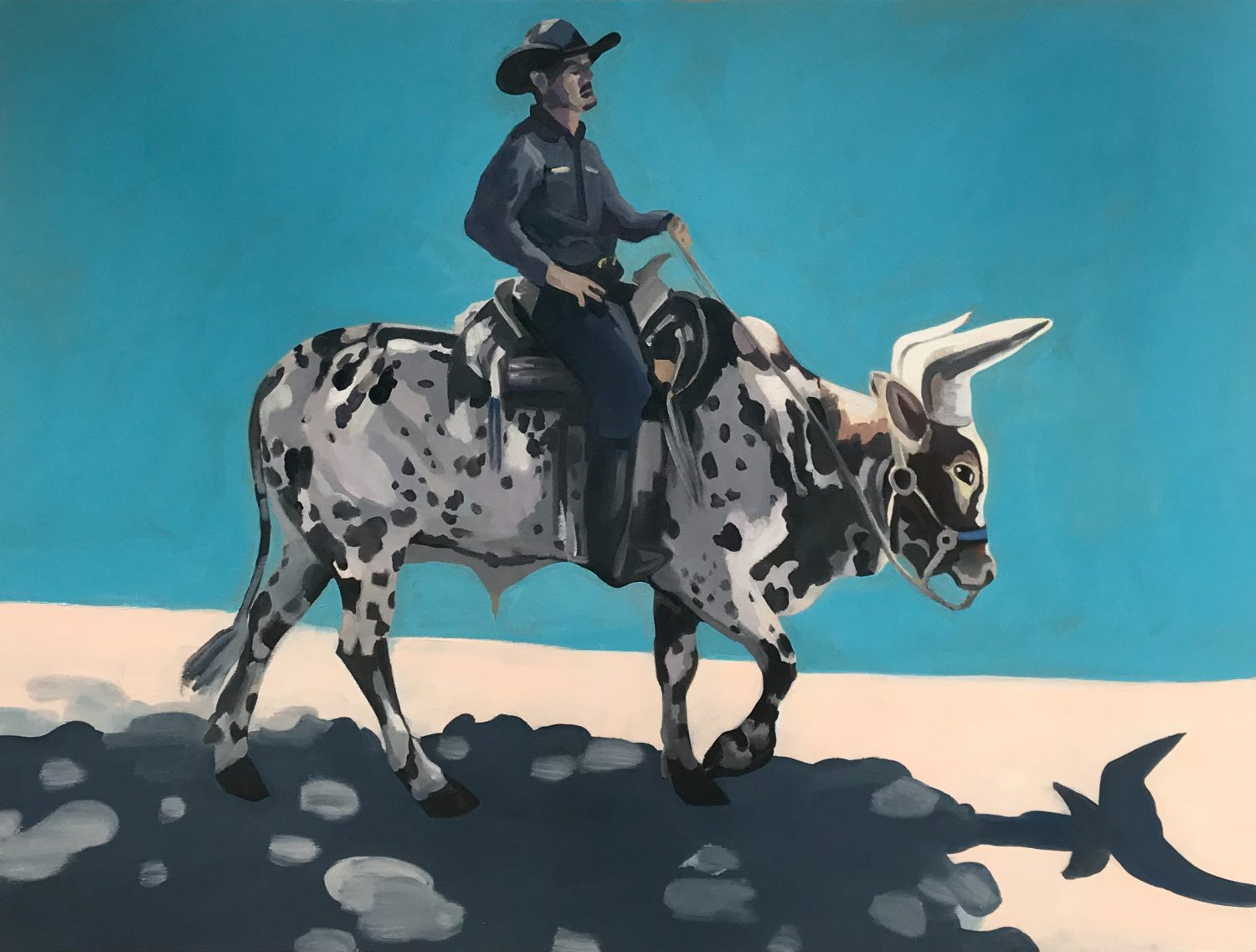 "The Ride Home with a Picasso Shadow, oil on canvas, 30"" x 40"""