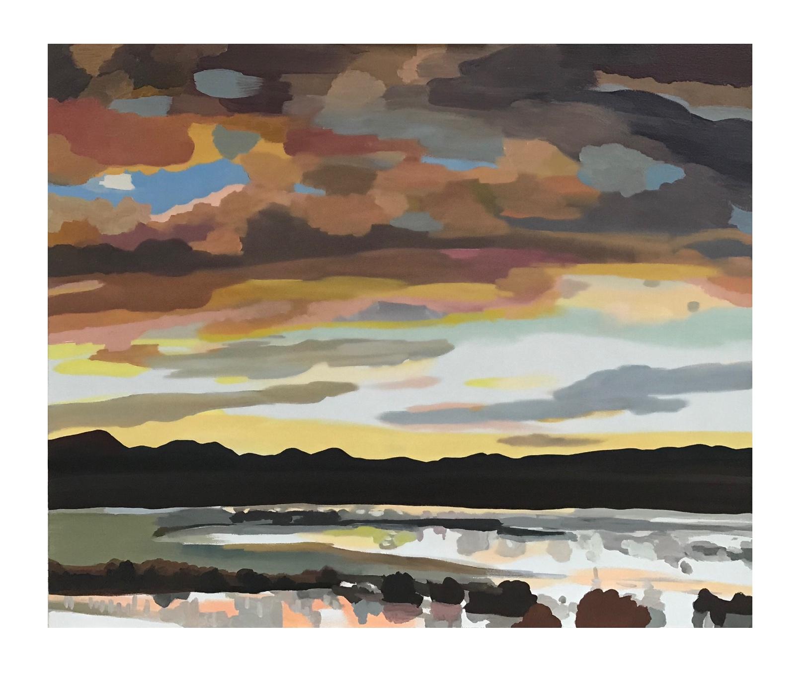 """Sunrise Animas, oil and wax on canvas, 30"""" x 36"""""""