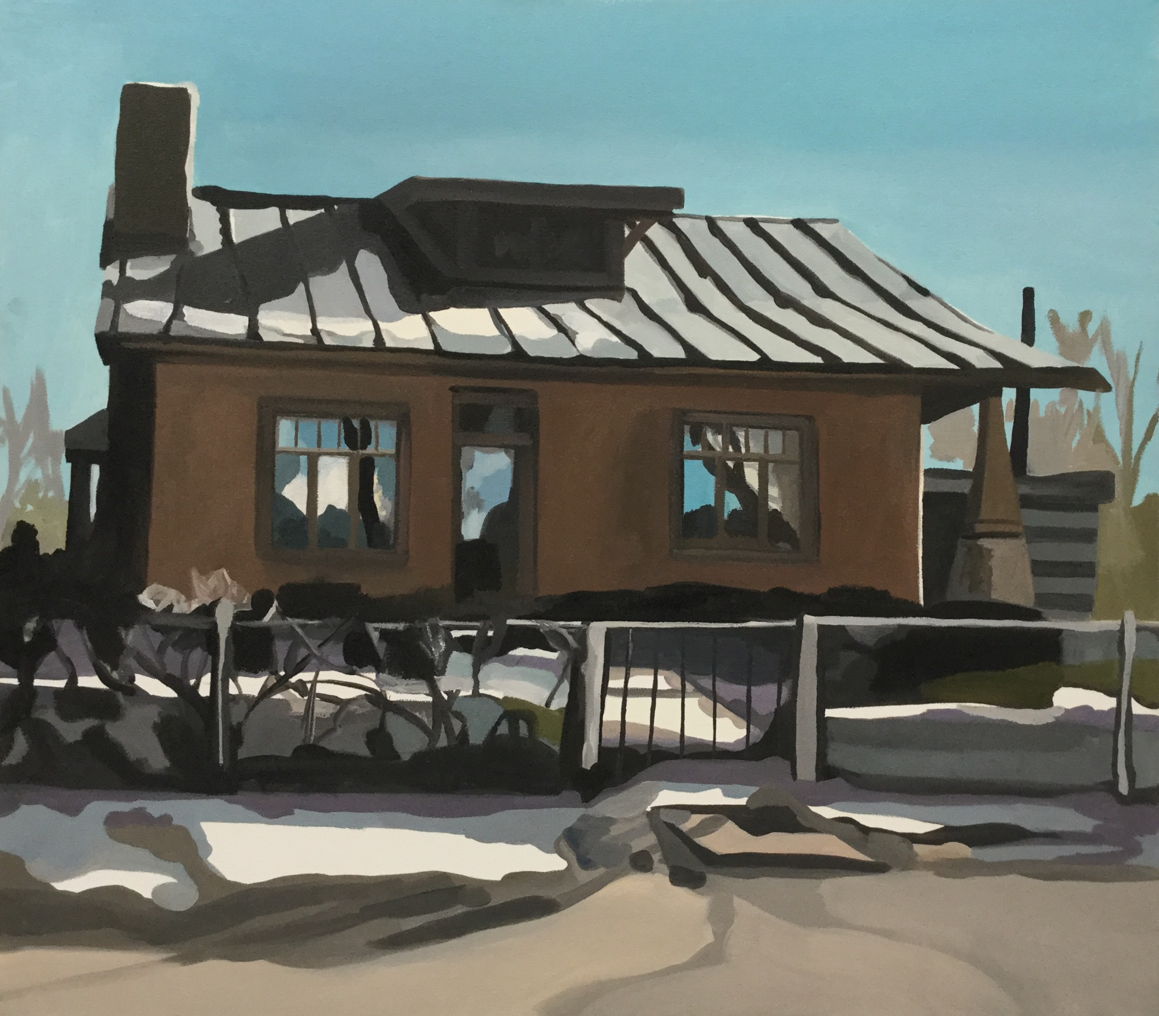 "Agua Fria House, oil, 30"" x 34"" (sold)"