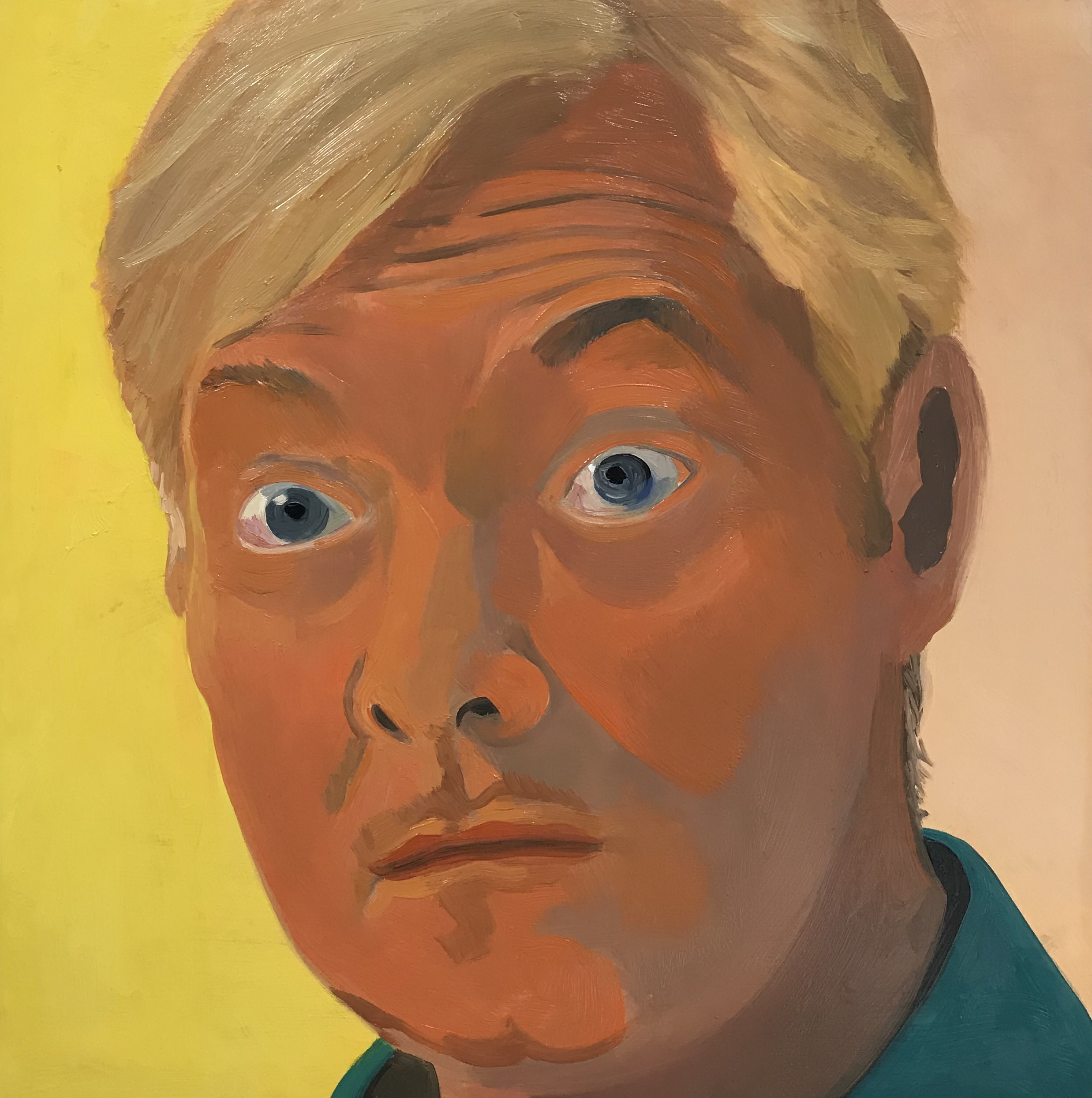 """Kurt, oil on canvas, 12"""" x 12"""";SOLD"""