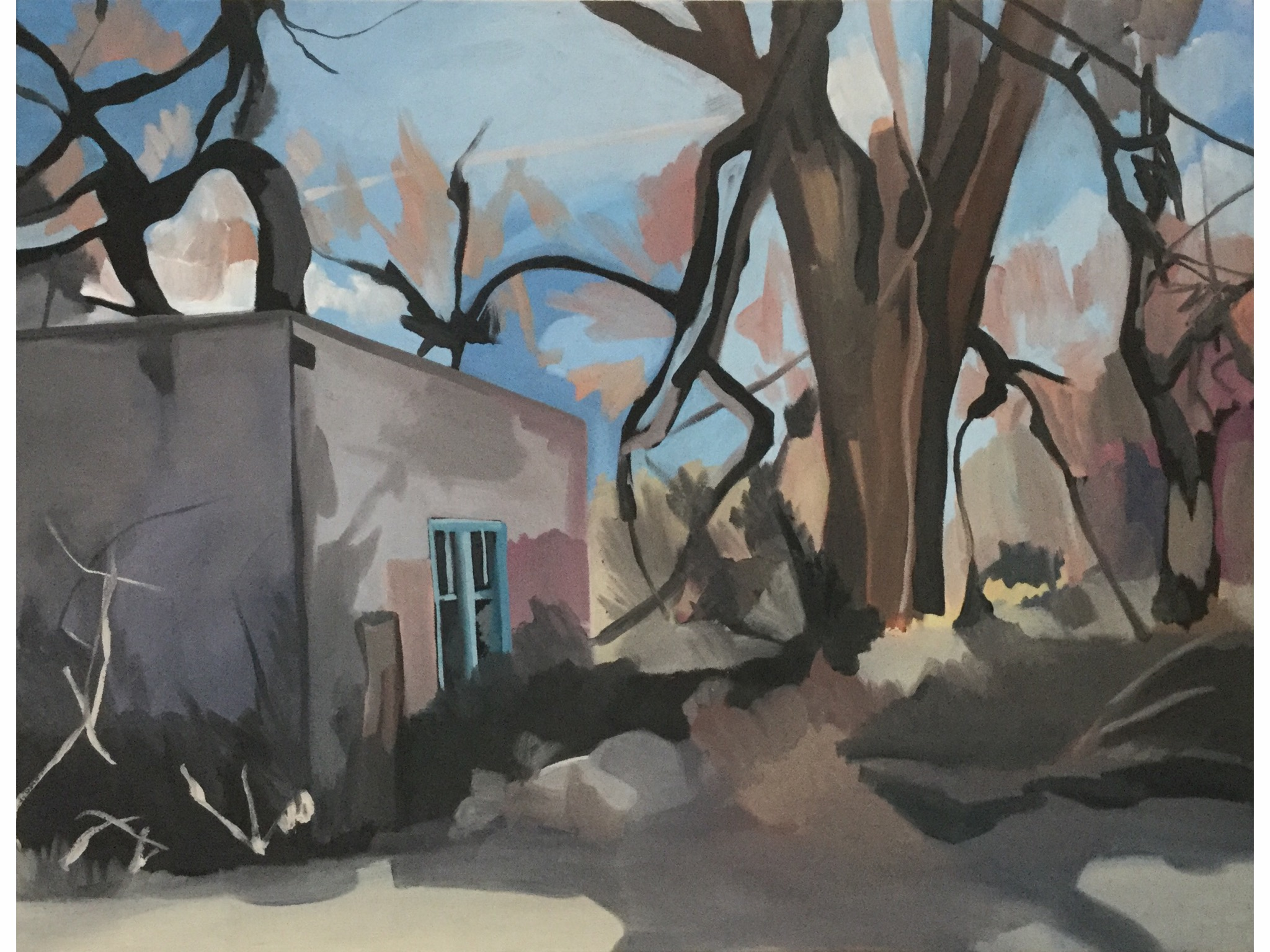 "The Neighbor's Place, oil on canvas, 34"" x 44"""