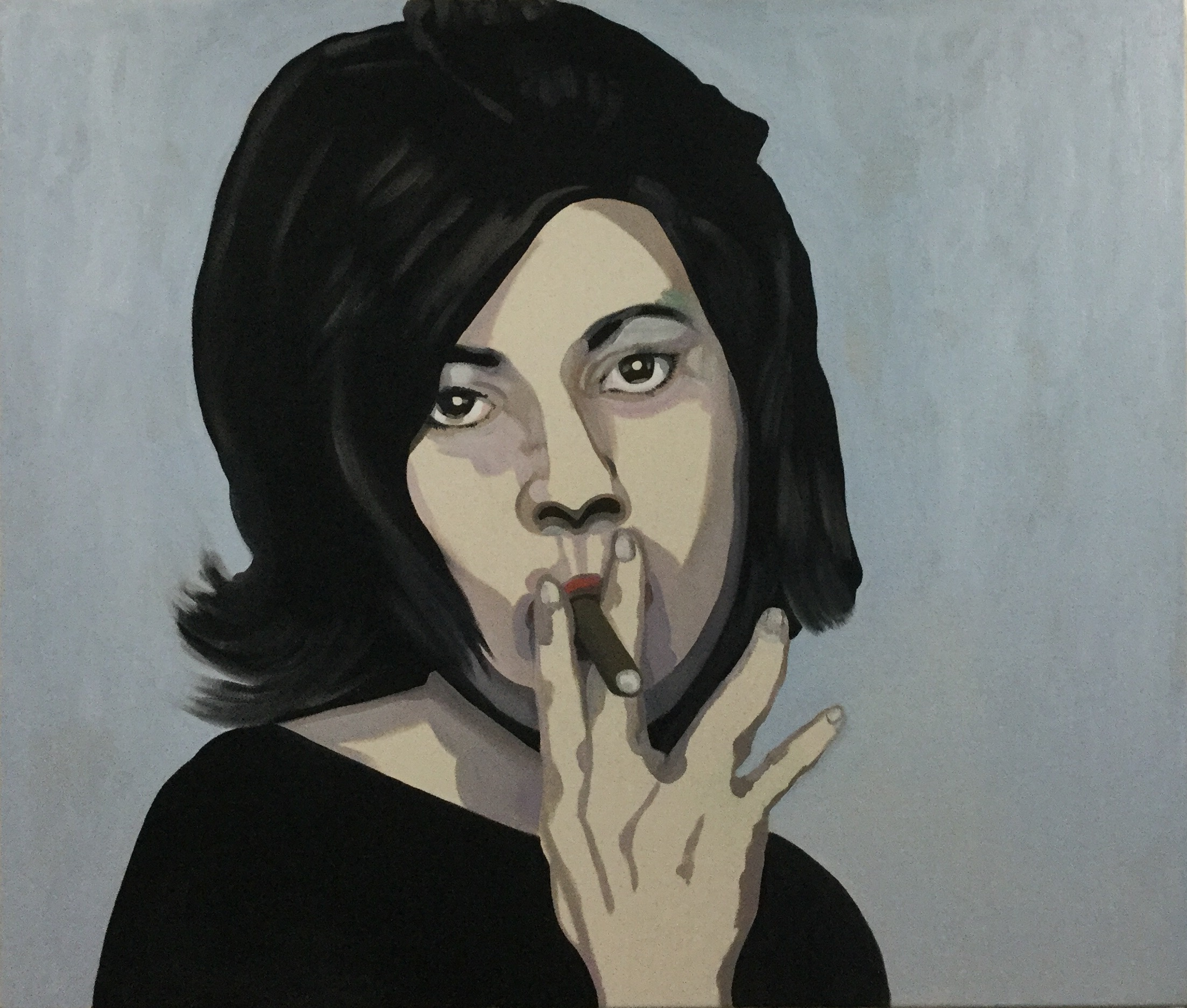 """The Hard Truth, oil on canvas, 36"""" x 40""""  (sold)"""