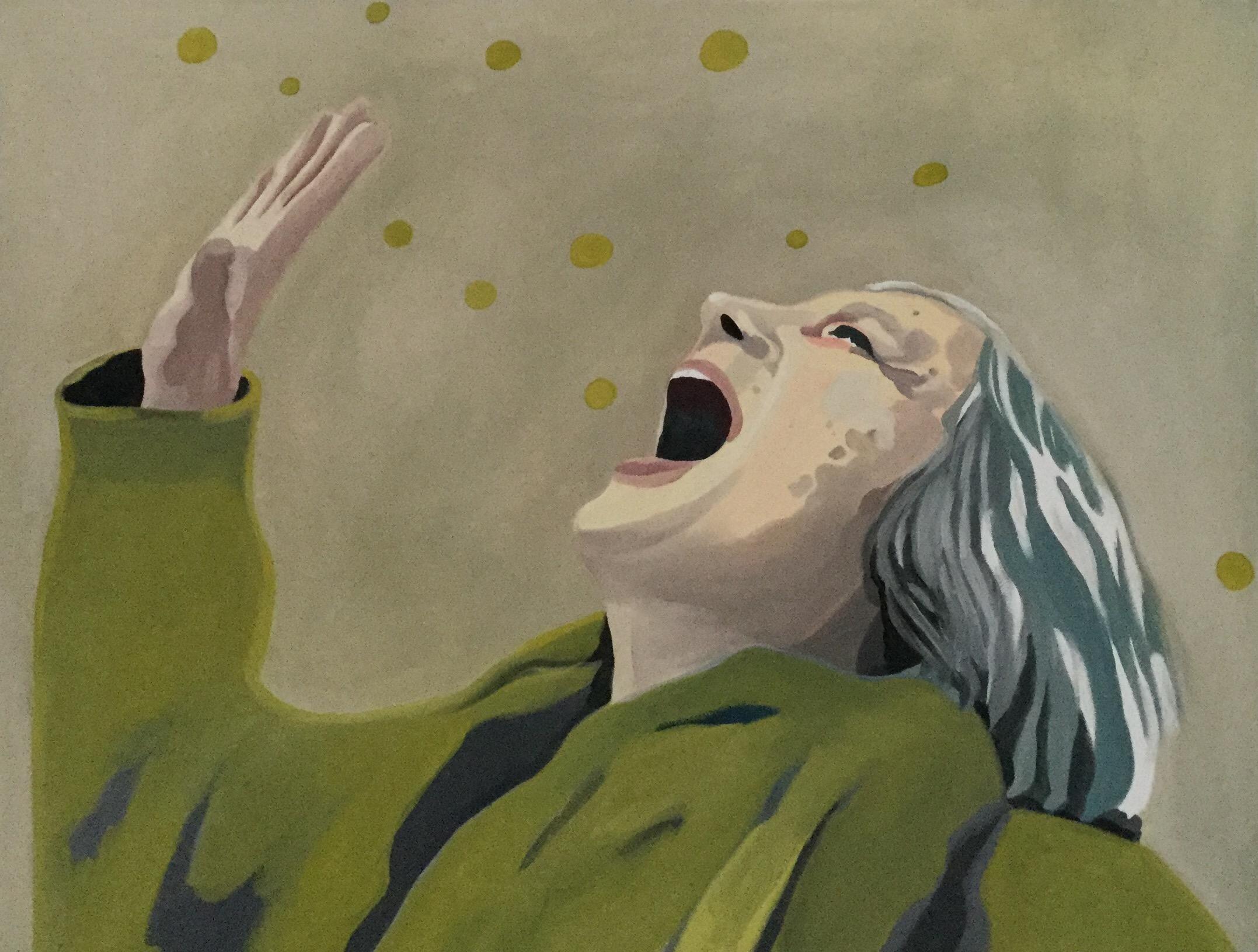 "Silent Scream, oil on canvas, 30"" x 36"""