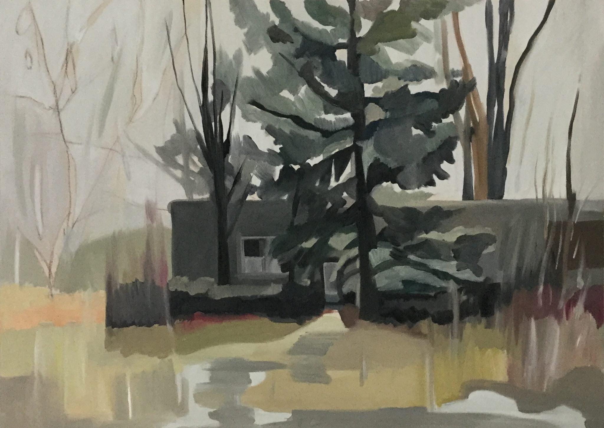 """Rainy Day, oil, 26"""" x 36"""""""
