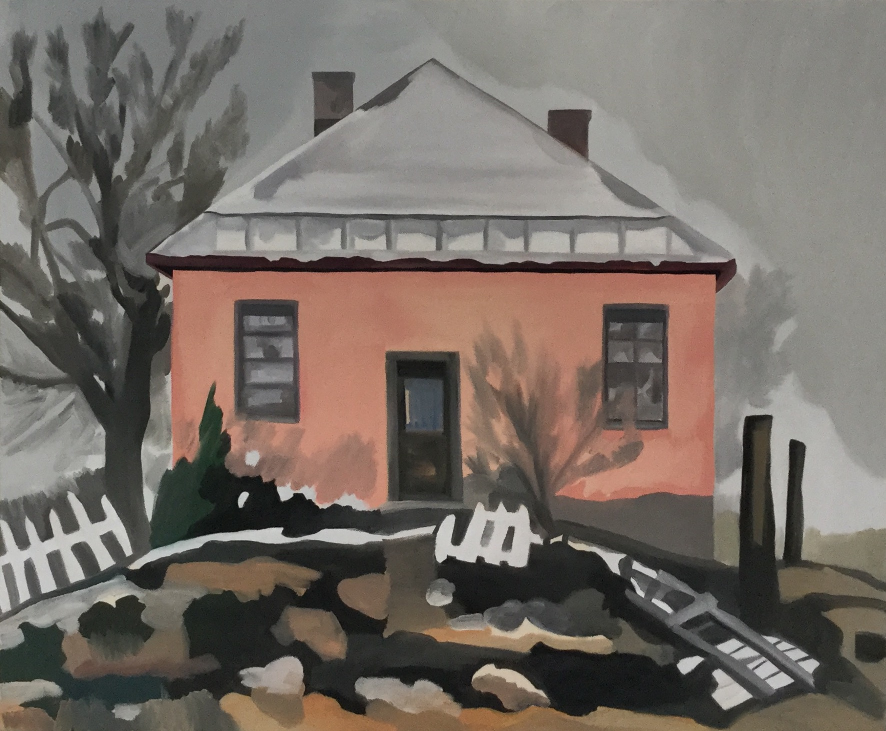"Cerrillos House (Broken Dreams), oil on canvas, 30"" x 36"""