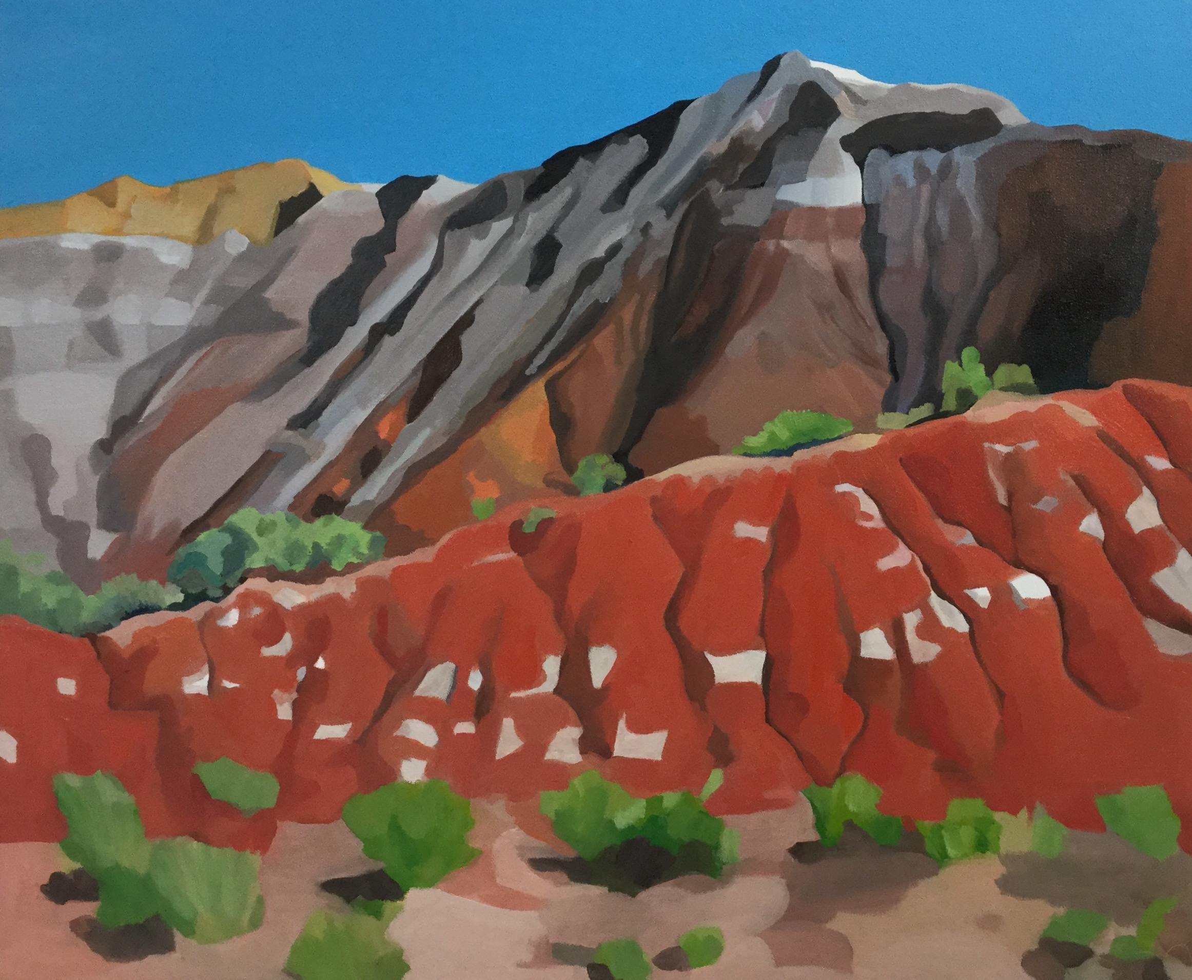 "Up by Abiquiu, oil on canvas, 30"" x 36"""