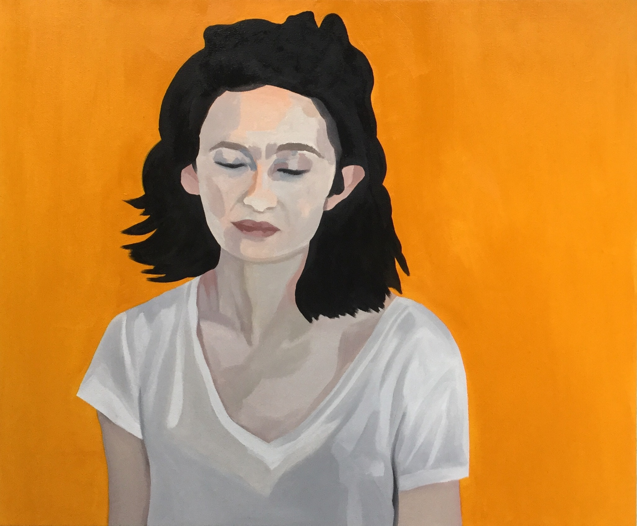 """Quiet in the Noise, oil on canvas, 30"""" x 36"""""""