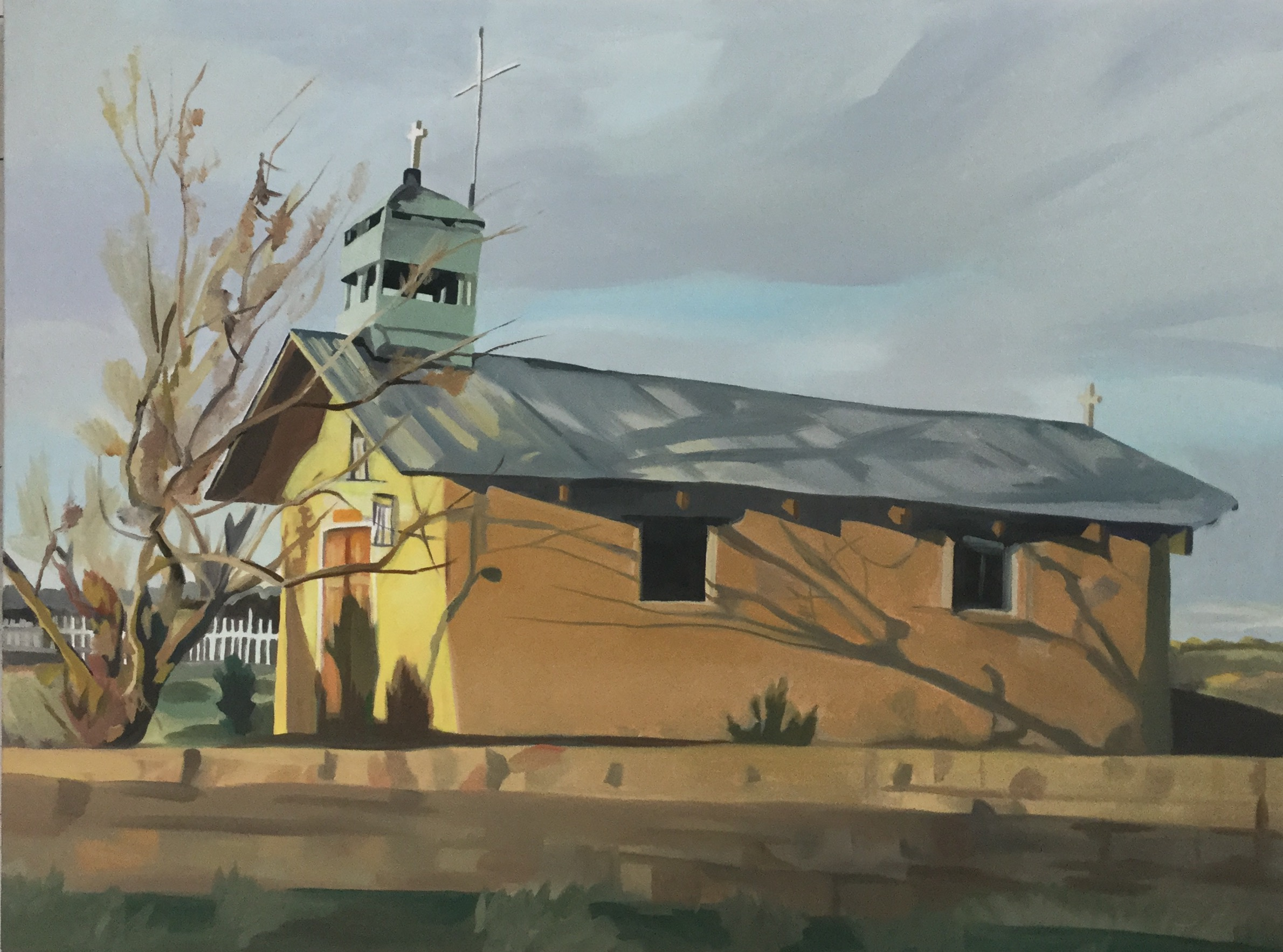 "Family Chapel at Casa Abril Vineyards, oil on canvas, 30"" x 40"""