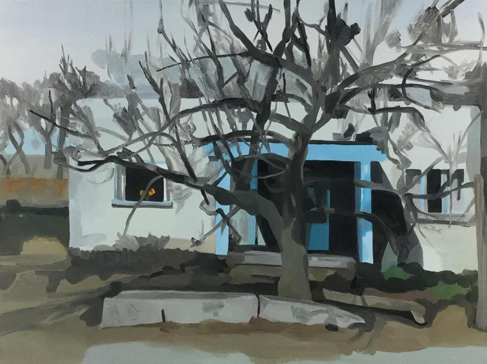 """Greta's House, oil, 30"""" x 40"""""""