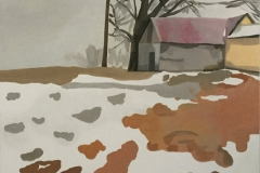 Snowmelt on Leaves