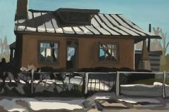 "Agua Fria House, oil, 30"" x 34"""
