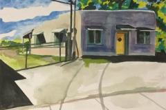 "Near Town, watercolor, 7"" x 10"""
