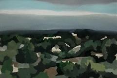"""Santa Fe Hills, oil on linen, 16"""" x 20"""""""