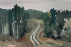 Down the Road, oil