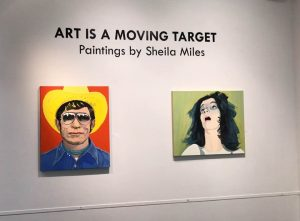 Photograph of Sheila's exhibition at the Holter Gallery of Art
